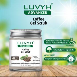 luvyh coffee gel scrub