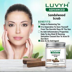 luvyh sandalwood scrub